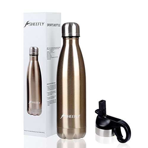 b3b555cae78 SHEEFLY 17oz Double Wall Vacuum Insulated Stainless Steel Water ...