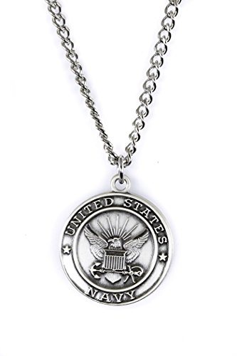 - Military Medals Sterling Silver Saint Michael Protect Me, 3/4 Inch (US Navy)