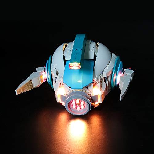 Conjunto de luces LIGHTAILING para bloques de construcción (Lego Movie 2 Sweet Mayhem's Systar Starship) - Kit de luces LED Compatible con Lego 70830 (NO incluido el modelo)