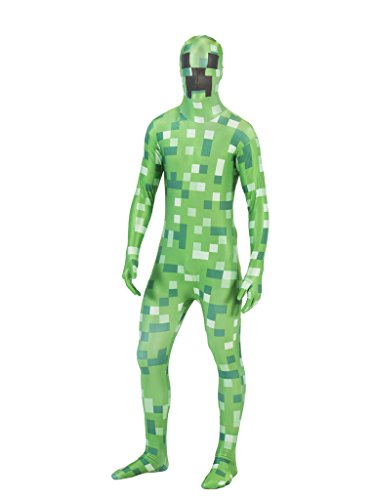 Pixelated Green Monster Morphsuit Costume (Adult M)