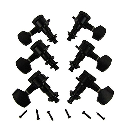 (IKN 3L3R Black Metal Auto Lock Electric Acoustic Guitar Tuning Pegs Machine Heads)