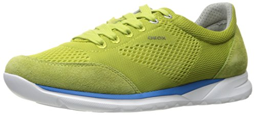 Geox Mens M Damian 4 Fashion Sneaker Verde Lime