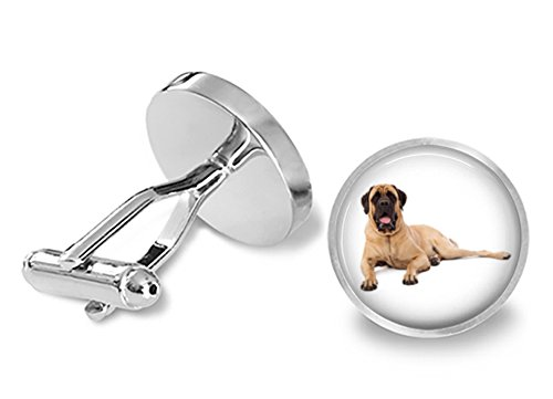 Mastiff Cufflinks - Bullmastiff Dog Cuff -