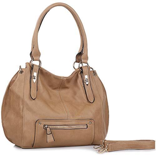 Women Handbags UTAKE Purse Shoulder PU Leather Hobo Crossbody Bag - Handbag Apricot Leather