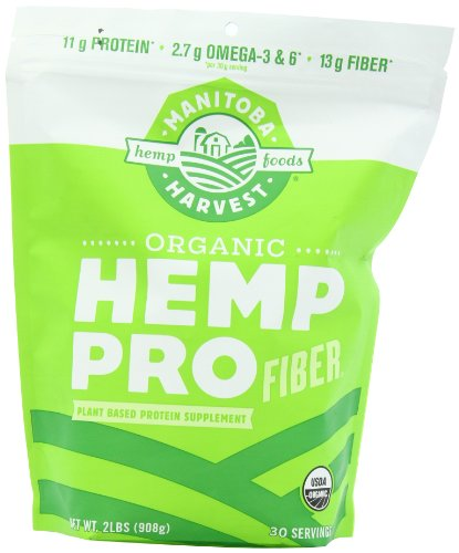 Manitoba Harvest Organic Hemp Pro Fiber Protein Supplement, 32 Ounce (Hemp Protein Plus Fiber)