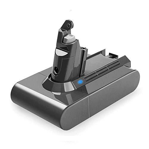 Upgraded 2600mAh Dyson V6 21.6v Li-ion Replacement Battery for Dyson V6 DC59 DC58 DC61 DC72 DC74 DC62 Animal Handheld Replacement Battery 595 650 770 880 Handheld Vacuum Cleaner