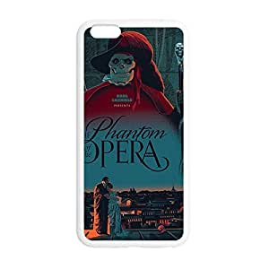 "Phantom of the Opera Printed Environmental Custom TPU a Case Cover for iPhone 6 Plus Surgery 5.5"" outer -White031209 Preparing"