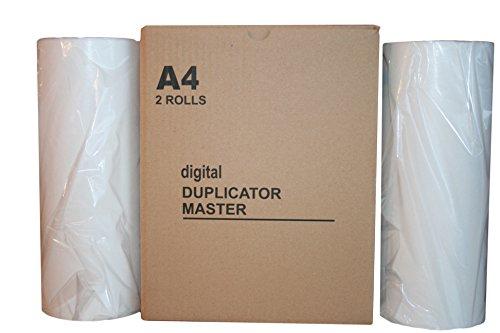 2 Ricoh JP-12SV2 Wholesale Widgets Brand Compatible Masters. Compatible With Part # 817567, Savin Part # 4593, Gestetner Part # 817536, CPMT16, Lanier LDD020 Compatible Master (Gestetner Part)