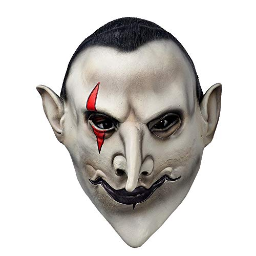 Dawwoti Devils Latex Scary Mask Earl of Hell Face Vampire Bloodsucker Halloween Masquerade Mascara Terror Cosplay Costume Mask Party Props
