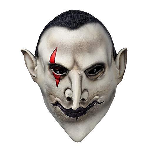 Dawwoti Devils Latex Scary Mask Earl of Hell Face Vampire Bloodsucker Halloween Masquerade Mascara Terror Cosplay Costume Mask Party -