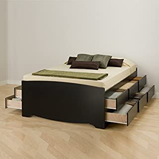 Prepac BBQ-6212-K Tall Queen Sonoma Platform Storage Bed with 12 Drawers, Black (B001KW0DMM) | Amazon Products