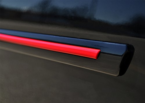 Painted Body Side Molding with Color Insert for GMC Sierra Double Cab (2014-2016) - Switchblade Silver Metallic (WA636R) with Brite Red Color Insert (Ci2 Replacement Blades compare prices)