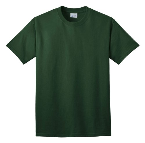Port and Company PC54 Adult's 54-oz 100% Cotton T-Shirt Dark Green Small
