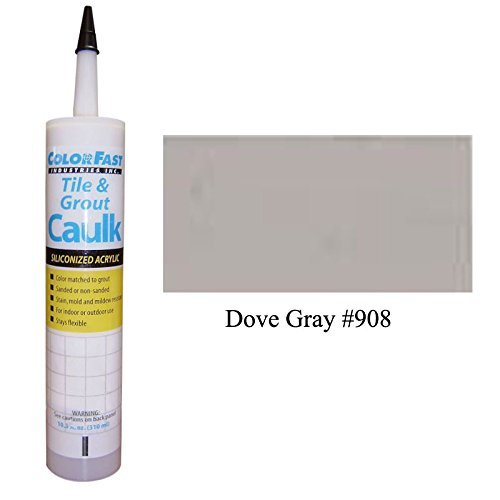 TEC Color Matched Caulk by Colorfast (Sanded) (908 Dove Gray) (Gray Sanded Grout)
