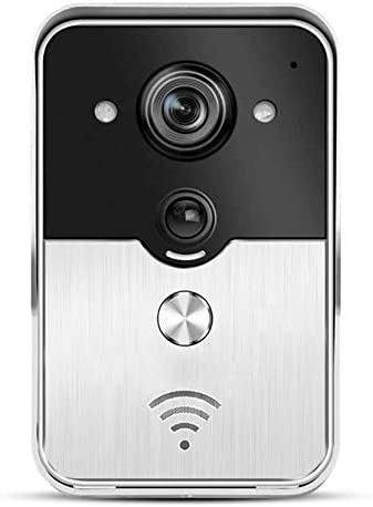 Kk スマートビデオドアベル、1080P HD WiFiセキュリティカメラ、双方向トーク、モーション検出器、166°のワイドアングル&ビデオナイトビジョン、iOS版/Android向けアプリのリモートコントロール