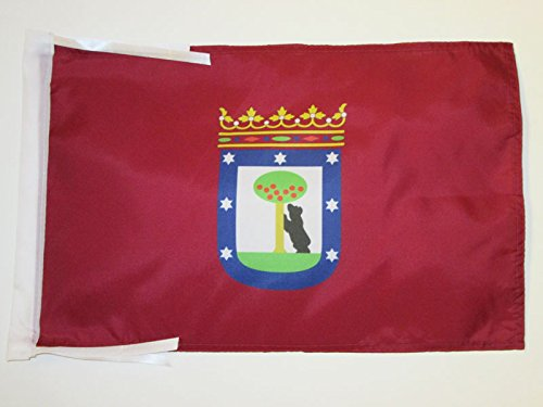 (AZ FLAG Madrid Flag 18'' x 12'' Cords - Madrid Small Flags 30 x 45cm - Banner 18x12 in)
