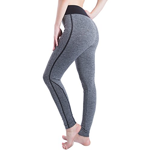 HONGGUOGUO Women's Cotton Leggings Absorb sweat Power Flex Yoga Pants sports outdoor, 11, M(length91CM) (Cotton Top Control Tights)