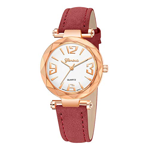 AWEPOL Rose Gold Watches for Women Geneva Fashion Women's Watch Leather Best Watches for ()