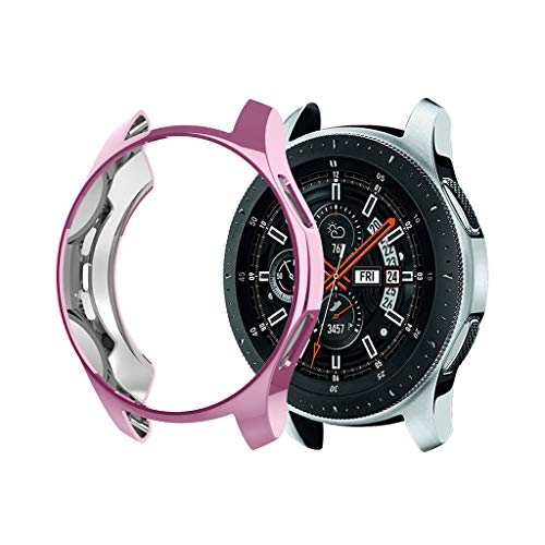 Huangou ❤❤ Smart Watch TPU Cover ❤ Ultra-Thin TPU Plating Protection Case Cover for Samsung Galaxy Watch 46mm (Pink, Free) by Huangou (Image #1)