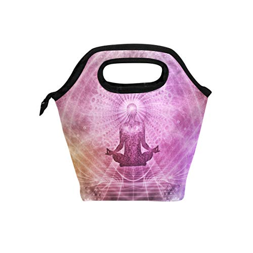 Art Fantasy Lord Buddha Lunch Bag for Boys Girls Kids Zipper Insulated Lunch Box Bento Case for Men Women -