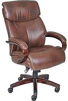 Amazon Com La Z Boy Executive Chair Leather Mahogany Furniture Decor