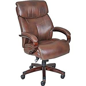 amazon com la z boy executive chair leather mahogany kitchen dining