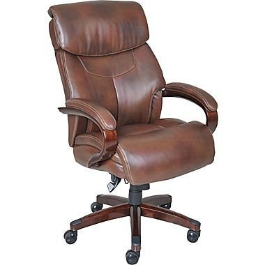 (La-Z-Boy Executive Chair, Leather Mahogany)