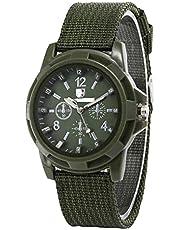 SENZHILINLIGHT Sergeant horloge geweven canvas band heren lichtgevend horloge Gepersonaliseerde lederen pols Bracer Japan bewegingshorloge