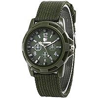 SENZHILINLIGHT Sergeant horloge geweven canvas band heren lichtgevend horloge Gepersonaliseerde lederen pols Bracer…