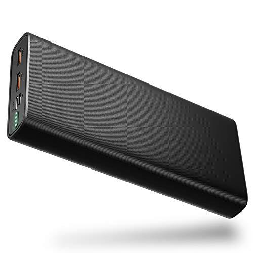 BANNIO 20000 mAh powerbank, USB C externe accu met 18 W stroomvoorziening, hoge capaciteit type C PD powerbank draagbare…