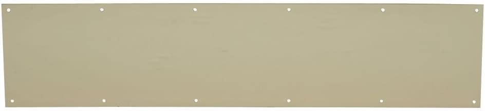 """Schlage Lock Company SC8400PA3 6X34 H.B. Ives Kick Plate 6 x 34"""" Bright Brass Finish Aluminum For Use On Wood Or Metal Doors"""