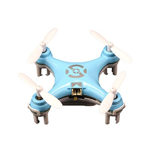 amtonseeshop 1PC Mini Popular Cheerson CX-10 2.4G 4CH 6 Axis LED RC Quadcopter Airplane Gift(Blue)