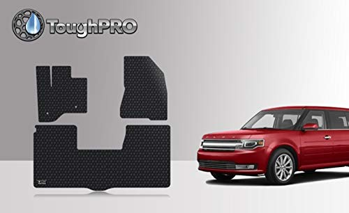 ToughPRO Floor Mats Set Compatible with Ford Flex - All Weather - Heavy Duty - Black Rubber - (Made in USA) - 2013, 2014, 2015, 2016, 2017, 2018, 2019, 2020 (Ford Flex Floor Mats)