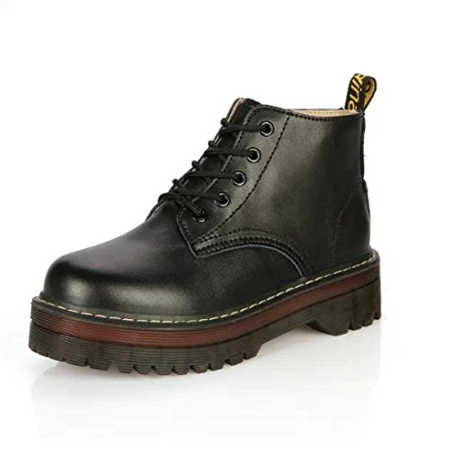 Retro Fashion Boots Martin Boots Boots Shoes Black 0ml1L