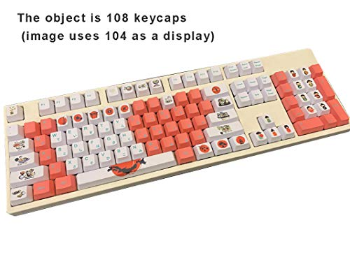 PBT Keycaps, OEM/Cherry Can Choose, Suitable for Cherry MX Switch, Support  Custom 87/104/108 Key Position,108