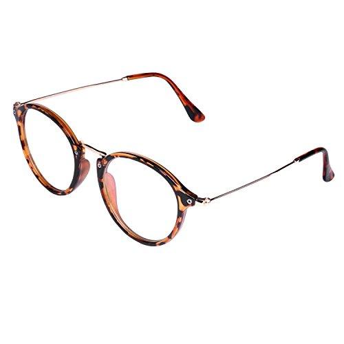 Embryform Campus miroir minces lunettes de cadre cadre des lunettes de cadre en m¡§?tal bross¡§? r¡§?tro litt¡§?raire 9738 MvA75