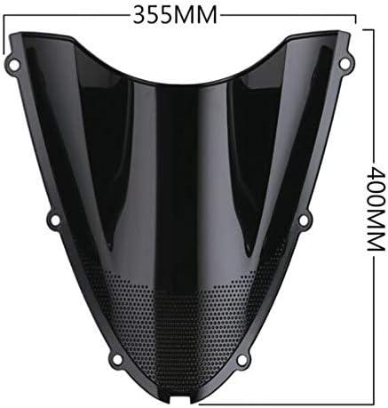 PQZATX D/éFlecteur de Pare-Brise /à Double Bulle WindScreen pour Accessoires de Moto Ninja ZX6R 2005-2009 et ZX10R 2006-2007