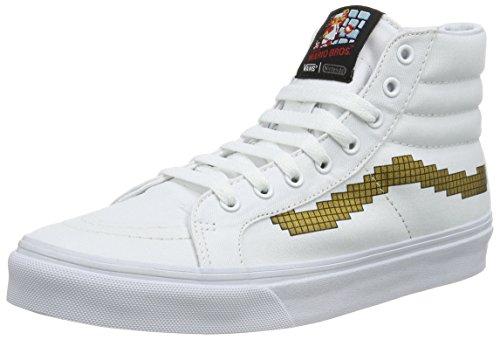 Vans Sk8-Hi Slim, Zapatillas Altas Unisex Adulto Blanco ((Nintendo) Console/gold)