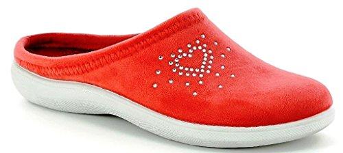 Invernali 27 Donna Corallo Nuovo Pantofole Ciabatte Da Inblu Bs Art Sqg7EnUw