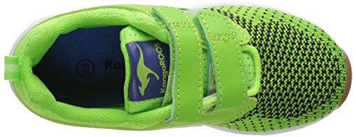 KangaROOS Unisex-Kinder Ron I V Sneaker Grün (Lime/Royal)