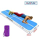 HIJOFUN Air Track Tumbling Mat Inflatable Gymnastics Mat for Toddler/Adults, Gym Air Floor Yoga Mat for Outdoor Sports/Training/Cheerleading/Beach/Park