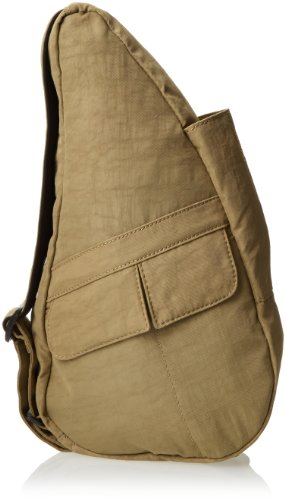 AmeriBag Classic Distressed Nylon Healthy Back Bag tote X-Small,Taupe,one (Ameribag Healthy Back Bag)