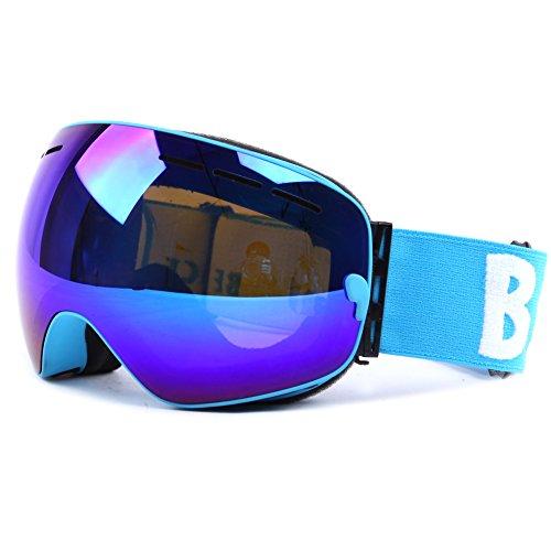 Ski Snowboard Goggles Windproof Anti-fog Dustproof Impact Resistance Adjustable Detachable Frameless Spherical Lens Snow Goggles for Skiing Skating Snowmobile UV - Rating Best Sunglasses