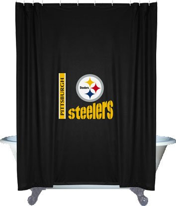 Amazon.com : NFL Pittsburgh Steelers Shower Curtain : Sports ...