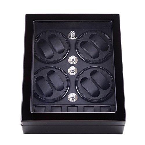 MIRANQAN JIANBO Automático Watch Winder 8+5, Premium Estuche, Relojes Automáticos para 8 Relojes, Silencio, 02
