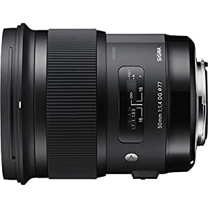 Sigma 4311954 50mm f/1.4 DG HSM Art Lens for Canon, Black