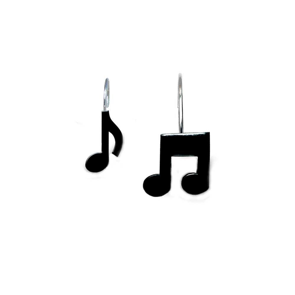 Amazon.com: Music Treasures Musical Black Note Shower Curtain ...