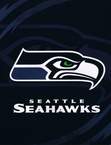 Northwest NFL Football Seattle Seahawks Blanket - King Size Mink Raschel Plush 84 x 94 inch