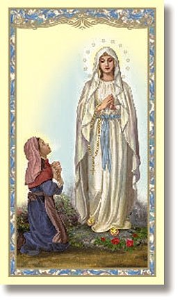 (Our Lady of Lourdes (Novena to Our Lady of Lourdes) Holy Card )