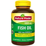 Nature Made Fish Oil 1000 mg Softgels, 90 Count for Heart Health† (Packaging May Vary)
